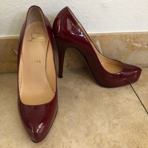 Red Christian Louboutin Patent Leather pump 37.5